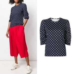 COMME DES GARCONS Black Polka Dot Top Tee T-shirt